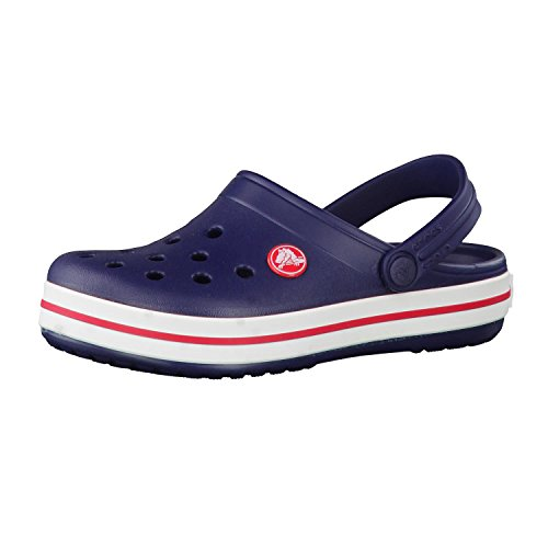 crocs Unisex-Kinder Crocband K Clogs, Blau (Navy/Red), 30/31 EU