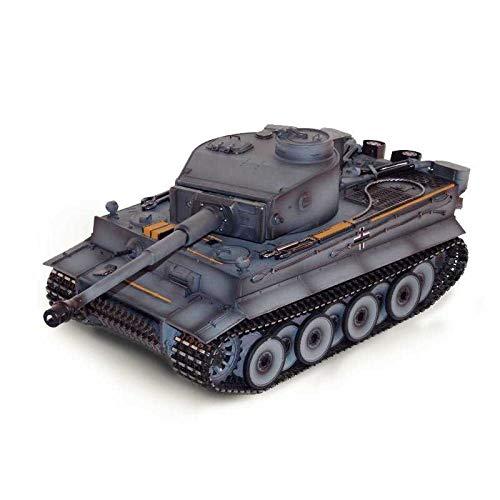 Torro 1:16 RC Panzer Tiger 1 mit Metallketten, Metallunterwanne Frühe Version BB grau