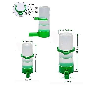 Ofanyia 4pcs/lot Abreuvoirs Distributeur d'eau Automatique pour Oiseaux Mangeoires
