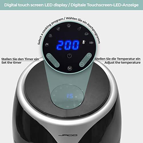 Friteuse Électrique sans Huile - Grande Capacité 5.5 l, 1700 W, Écran Tactile LED, Multifonction avec 7 Programmes, Minuterie et Température Réglable - Friteuse à Air Chaud, Air Fryer