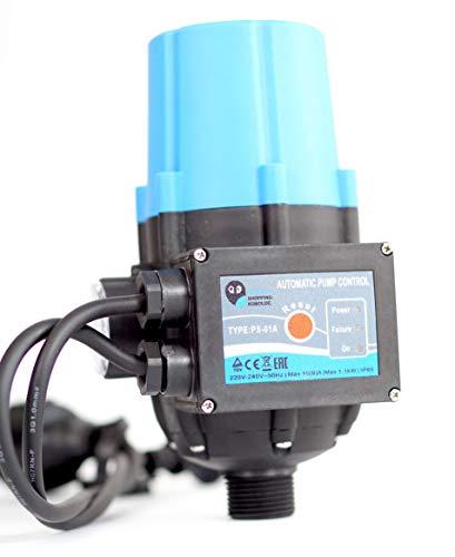Pumpensteuerung PS-01A Druckschalter Druckwächter für Pumpe Gartenpumpe Hauswasserwerk mit integrierten Trockenlaufschutz und Kabel (2x)