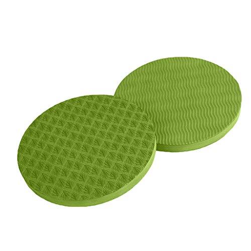 MOTOCO Yoga Knee Pad Pilates Workout Mat Yoga-Kniepolster für Workout, Runde Ellenbogenscheibe, Schutz für Gelenke und Ellbogen, 2 Stück(17X1.5CM.Grün)