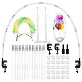 JNCH Kit Arco Globos Estructura+2 Juegos Soporte Globos Mesa Arbol Palos Palitos Globos Table Balloons Arch Frame Balloon Stand Decoraciones Bodas Cumpleaños Fiestas Eventos Graduación, Reutilizable