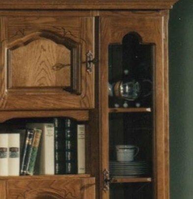 XANA-Möbel Edle Wohnwand in Eiche rustikal / Schrankwand Anbauwand Massiv – Vitrine - 4