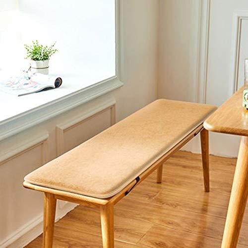ZHOUZHOU Cojín de banco de jardín con lazos de fijación, espuma de 2/3 plazas para muebles de patio al aire libre, cojín de asiento lavable silla de comedor, silla de comedor