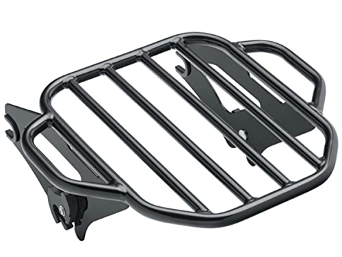 GLOSS BLACK Harley Davidson TOURING Large KING DETACHABLE TWO UP LUGGAGE RACK QUICK RELEASE REAR CARRIER 2009-2021 STREET GLIDE ROAD KING ELECTRA ULTRA CLASSIC 50300058A HD DETACHABLES FLHX FLTR FLHRC