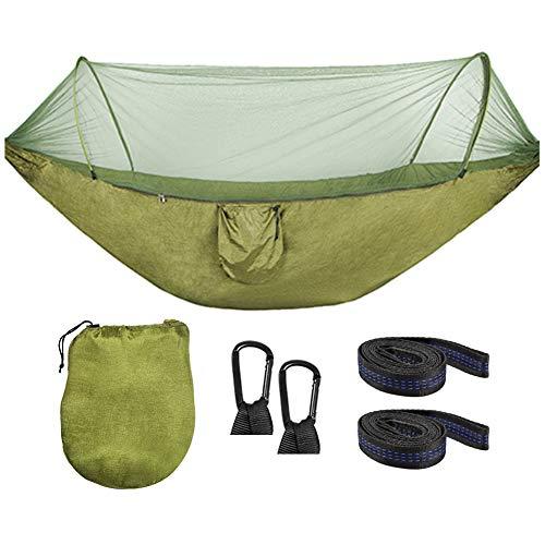ValueHall Hangmat met muskietennet Camping Hangmat Dubbele Lichtgewicht Parachute Nylon Hangmat met muskietennet en boomriemen voor Camping Wandelen Tuin Reizen V7079A