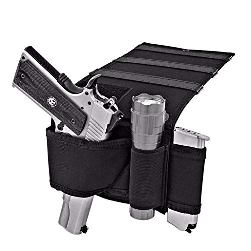 AJDGL Tactical Matratze Autositz Pistolenpistolenholster - Verstellbares universelles verdecktes Pistolenholster mit Magazinhalter Geeignet für die meisten Pistolen