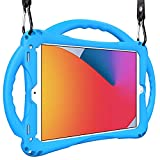 TopEsct iPad 7th Funda Niños Shock Proof Material Silicona Lightweight Kids Protector Cover Case con Manija para iPad 7th Gen. 10.2 (2019) / iPad Air3/iPad Pro 10.5 (Azul)