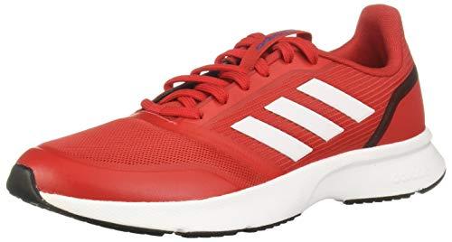 Adidas Nova Flow, Zapatillas Running Hombre, Rojo (Scarlet/FTWR White/Core Black), 42 2/3 EU