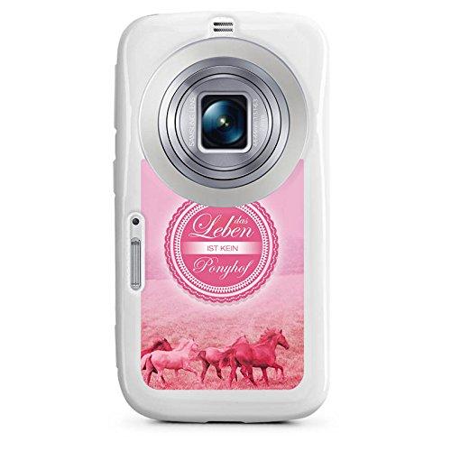 DeinDesign Cover kompatibel mit Samsung Galaxy K Zoom Hülle Silikon Hülle Schutz Ponyhof Pferde Leben