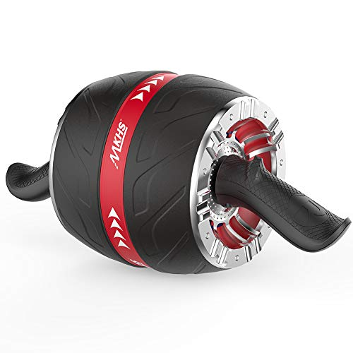 MKHS Ab Roller Wheel Exercise Equipment for Abs Workout - Ab Wheel Roller for Home Gym | Core Strength Training | Arm and Oblique Workout Options