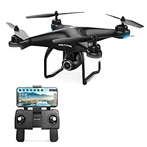 Holy Stone HS120D FPV Drone with Camera for Adults 1080p HD Live Video and GPS Return Home, RC Quadcotper Helicopter for Kids Beginners 18 Min Flight Time Long Range with Follow Me Selfie Functions