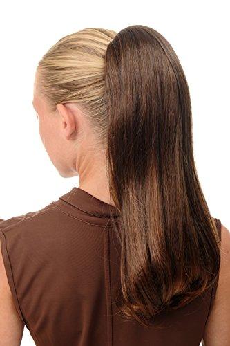 Preisvergleich Produktbild WIG ME UP - BRO-525-2T30 Haarteil Pferdeschwanz Extension mit großer Klammer sehr lang glatt voluminös Kastanie Braun Mix