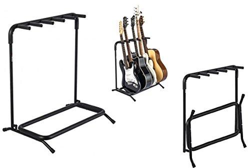 Proel FC850N - Supporto pieghevole x5 chitarre classic acustiche elettriche basso, Nero