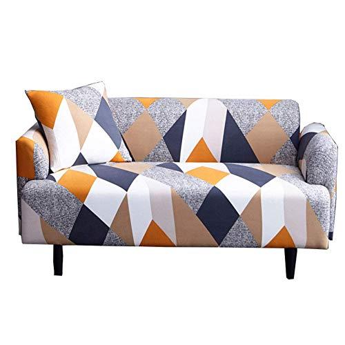 Jonist Funda para sofá Funda de sofá elástica Funda de sofá Estampada Funda de poliéster Tela de Licra Fundas de sofá Antideslizante Protector de Muebles para sofá Decoración del hogar (2 plazas, 1
