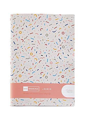 Miquelrius cuaderno con grapa By Rubio formato 4º Pauta Montesori 5 mm