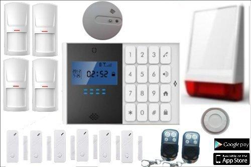 LKM Security WG-YL007M2C + 5S + 3PIR+SIR06 + SFUMO_01 Kit M2C Alarmsysteem voor thuis draadloos
