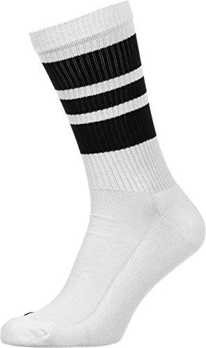 Spirit of 76 The black Blacks | Retro Socken Weiß, schwarz gestreift | knöchelhoch | Unisex Strümpfe Size M (39-42)