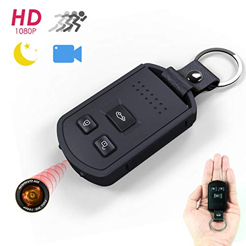 Hidden Spy Camera STTWXL HD 1080P Nanny Cam Portable Indoor and Outdoor Security Hidden Car Key Chain Mini Camera with Night Vision Motion Detection Vibration Feedback