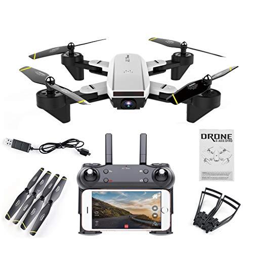Fogun FPV Qudacopter avec Caméra Suivi Optique Grand Angle 0.3MP / 2MP, sans Tête Maintien...