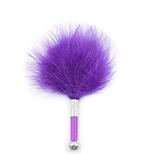 WRZHL Palo pequeo de plumas para parejas, cmodo, suave, ligereza, correas de yoga, mochila para pantalones vaqueros (color morado)