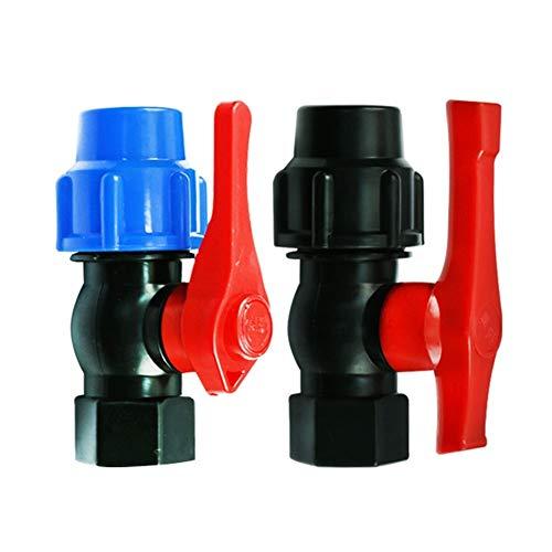 Conector de la manguera de conexión del sistema 20/25 / 32/40/50 mm-1/2' 3/4' 1' 1-1/2' Válvula rápida de agua de plástico Conector de tubos PE bola Pipe válvula de accesorios