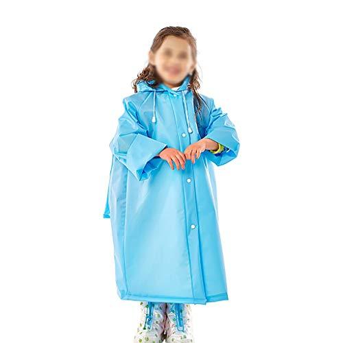 Z-Brand kinderregenjas regenjas voor kinderen schooltas Boy Girl regenjas kinderen poncho schattige unisex regenjas voor jongens en meisjes (kleur: E, maat: 74 * 49 * 56cm)