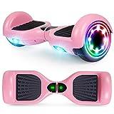 YHR Hoverboard 6,5 Pulgadas para niños y Adultos, Scooter eléctrico Inteligente de 2 Ruedas con LED de Colores, Auto...