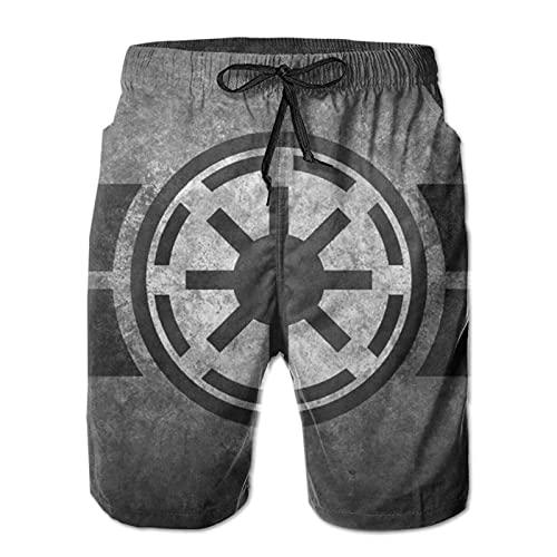 Star Wars - Pantalones cortos de natación para hombre, estilo informal, para surf, playa, verano, vacaciones, gimnasio, correr, correr