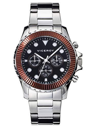 Viceroy Reloj Multiesfera para Hombre de Cuarzo con Correa en Acero Inoxidable 40459-47