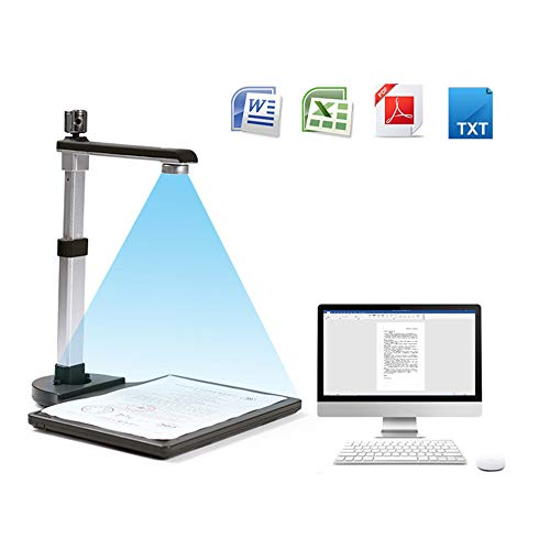 Review S620A HD Foldable Book Document Camera Scanner/ A3 Scanning Size with OCR Function LED Light ...