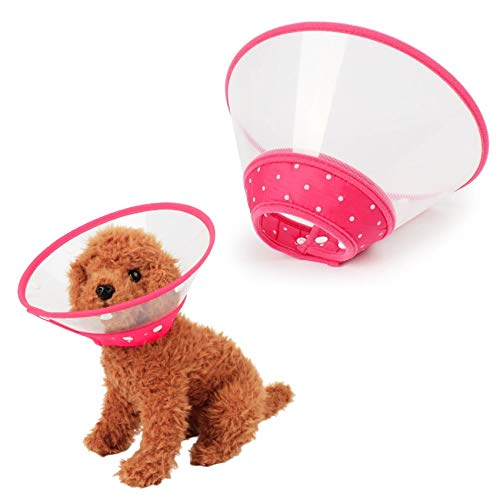 Xqpetlihai Adjustable Recovery Collars & Cones for Small Medium Large Dogs & Cats,with Soft Edge Anti-bite Lick Wound Healing Safe and Practical Plastic Electronic Collar for Dogs and Cats (XL, Pink)