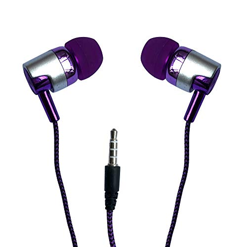 Game Headphones Noise Cancelling Earbuds - Headphones Wired Earbuds Volume Limited Premium in-Ear Noise-isolating Headphones, Earphones with (Purple)