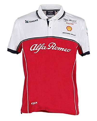 DND di D'Andolfo Ciro FCA Maglietta Alfa Romeo Racing F1 Polo Tessuto Tecnico Taglia XXL