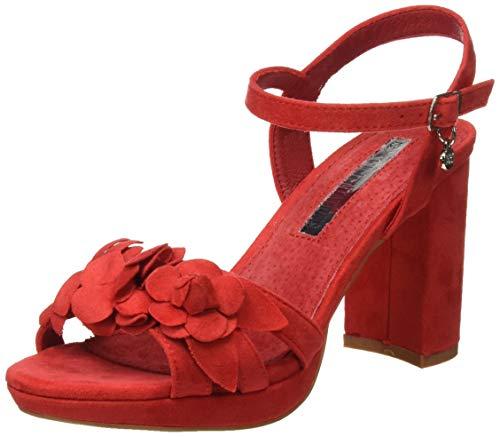 XTI 35044, Zapatos con Tira de Tobillo para Mujer, Rojo (Rojo Rojo), 39 EU