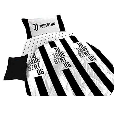 Juventus Piumone Trapunta Invernale 100% Cotone FC Originale Ufficiale (Letto Piazza e Mezza cm 220X270)