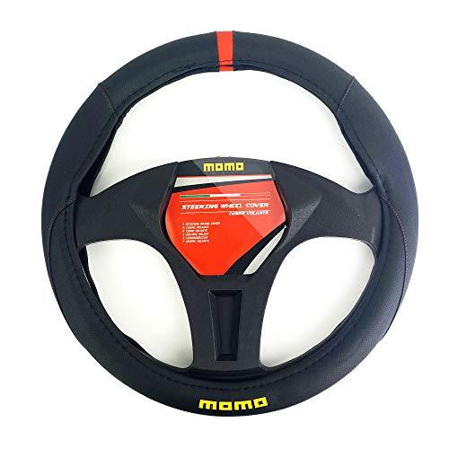 MOMO SWC010BR Funda de Volante, Negro/Rojo
