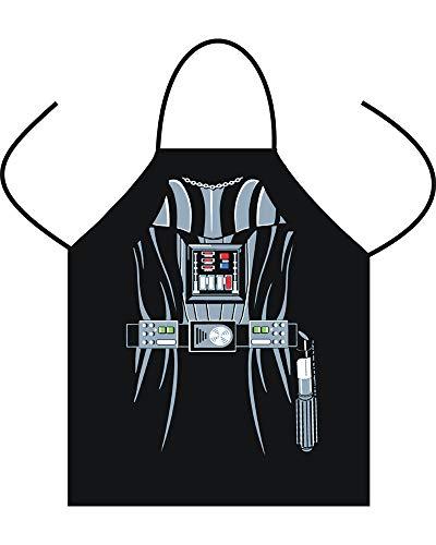 COIN Lustige Grillschürze für Männer mit Roboter Bedrucken Grillzubehör Geschenk für Männer Kochschürze Weber,Schwarz