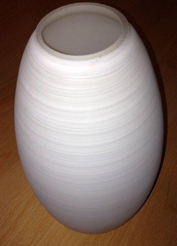 Wofi Ersatzglas Flame Pendelleuchte Leuchtenglas Lampenglas Streifen Glas 6033 weiß gewischt