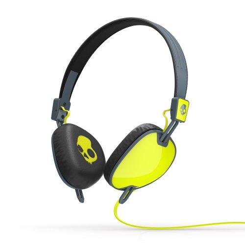 Skullcandy Navigator On-Ear-Kopfhörer mit Mikrofon limette/grau