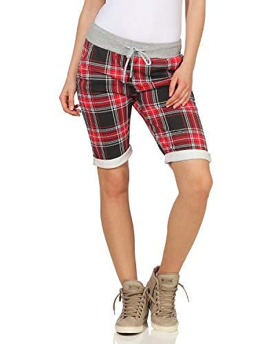 ZARMEXX Damen Shorts Capri Bermuda Boyfriend Kurze Sommerhose Sporthose Hot Pants Muster 16 One Size (34-38)