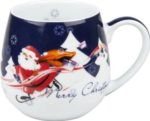 Faszination-Wohnen Teetasse Kaffeebecher Kaffeetasse Kuschelbecher Merry Christmas (Weihnachtsmann)