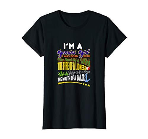 Womens I'M A Gemini Girl - Born as Gemini - Funny Gemini Horoscope T-Shirt