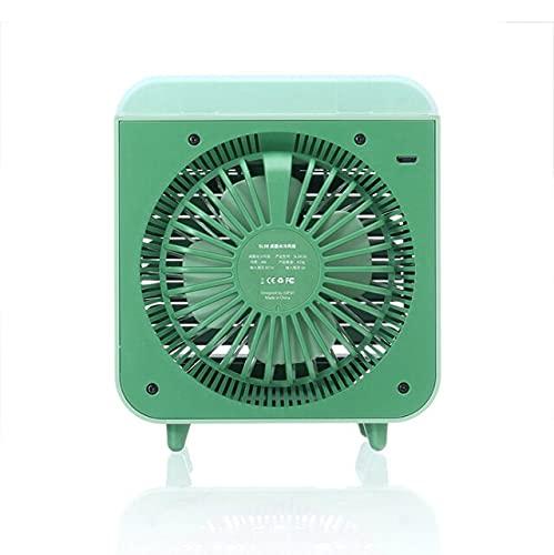 Ventilador de aire mini aire acondicionado de escritorio con ventilador portátil USB refrigerado por agua humidificador purificador multifunción verano-verde