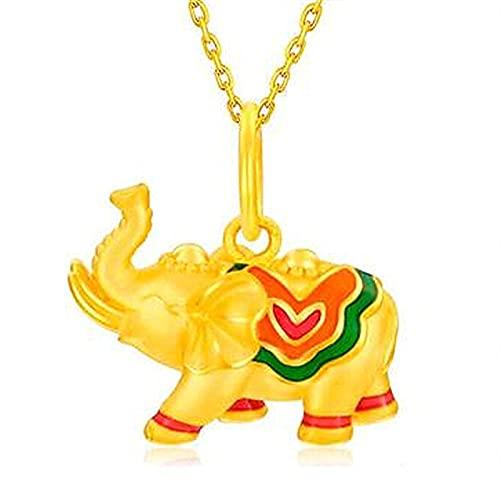 Günstiger Elefant Anhänger Vietnam Shamian Gold Weibliche Emaille Farbe Günstiger Elefant3DHandwerk GoldenerElefant Anhänger