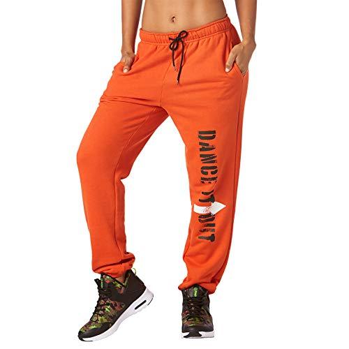 Zumba Fitness Dance it out Sweatpants Pantalones de Mujer, Todo el año, Mujer, Color Heatwave, tamaño Large