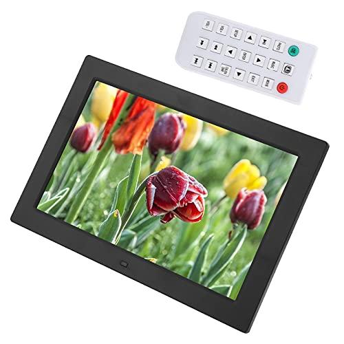 Wakects Marco de fotos digital de 12 pulgadas, marco de plástico de 12 pulgadas, pantalla LED 16:9, 1080P HD, vídeo publicitario para multimedia (negro)