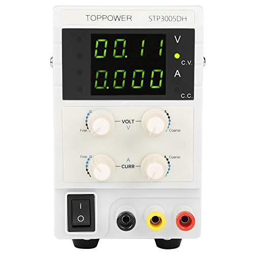 Fuente de alimentación DC regulada, Skytoppower Fuentes de alimentación de laboratorio DC regulada variable 0-30V 0-5A 110 / 220V (STP3005DH)