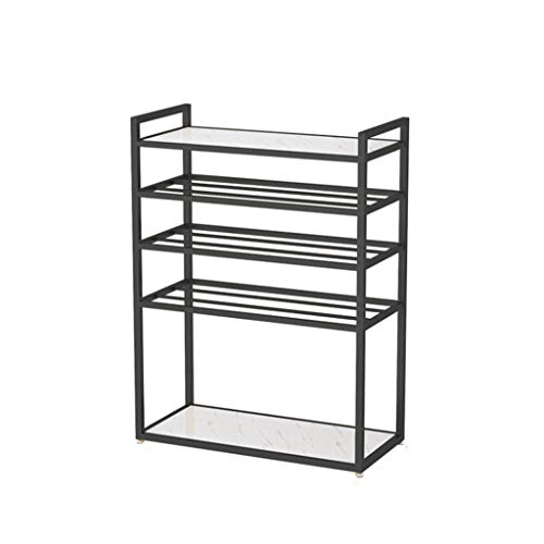 Kiter Zapatero de 5 niveles de hierro para zapatos, organizador de almacenamiento Nordic Simplicity para ahorrar espacio, estante para el hogar, dormitorio, pasillo (color: negro)